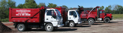 delivery trucks for all sizes of landscaping projects